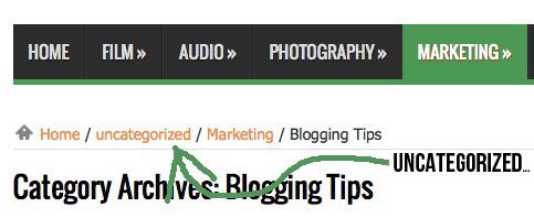 Come rinominare Senza Categoria su Wordpress