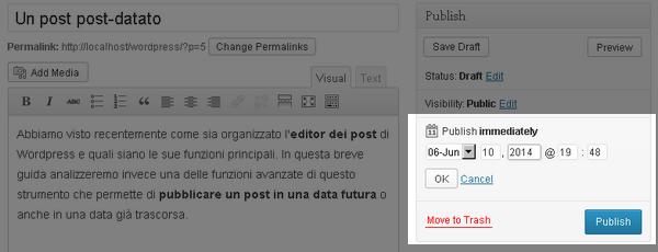 Come pianificare i post su WordPress